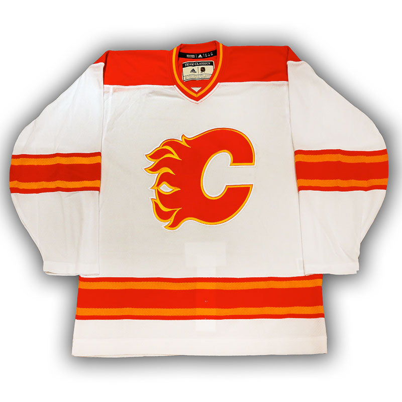 Calgary Flames Vintage Authentic Pro White Jersey