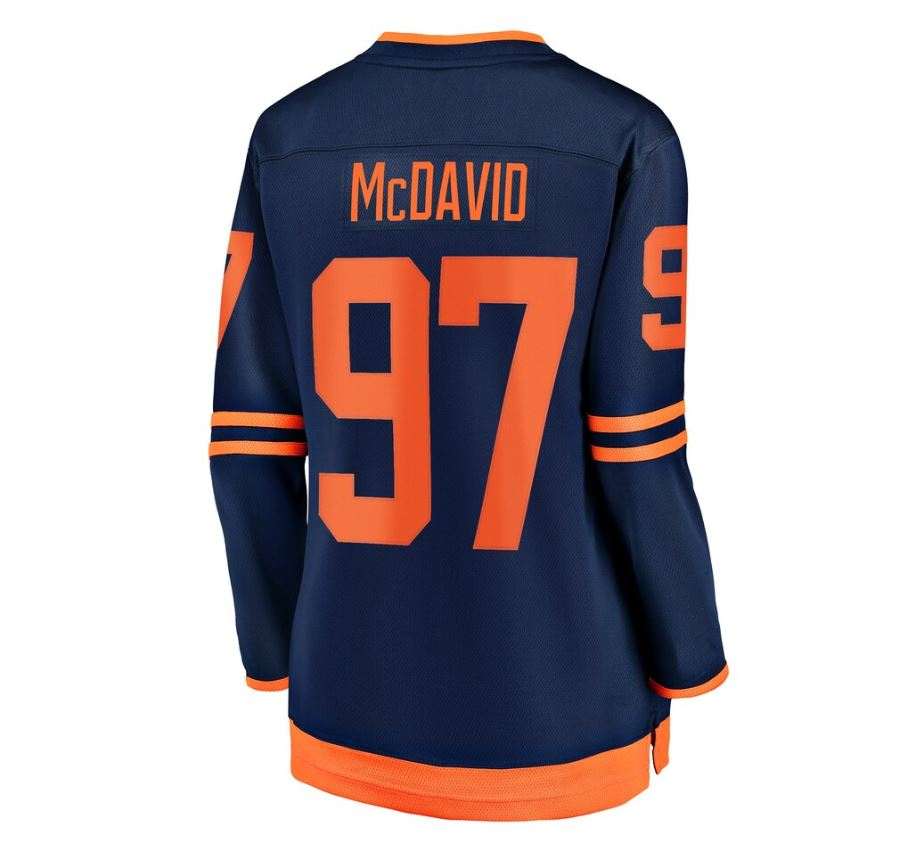 Women's Connor McDavid Edmonton Oilers Breakaway Replica Alternate Jersey