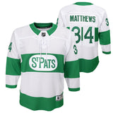 quality design c7c82 186a8 Auston Matthews Toronto Maple Leafs St. Pats Youth Alternate Replica Jersey