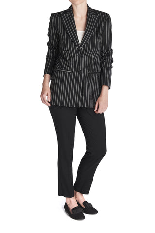 THE PINSTRIPE BOYFRIEND BLAZER