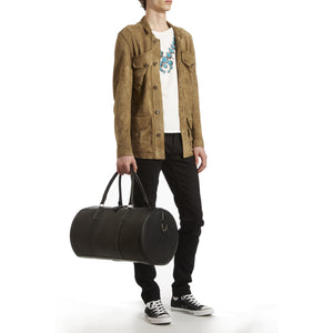 Duffle, Black Veg Tan Leather