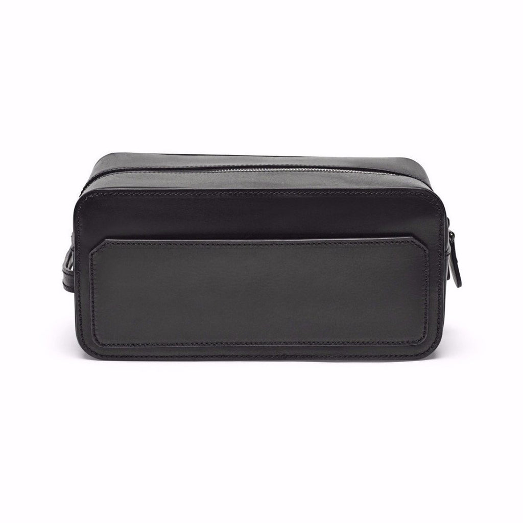 Dopp Kit, Black Veg Tan