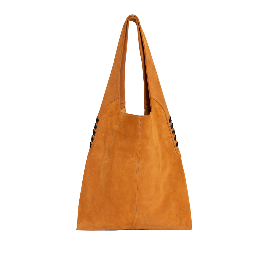 High Rider Tote in Brulee Suede