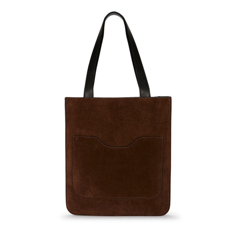 Hell to Texas Small Tote in Chocolate Suede