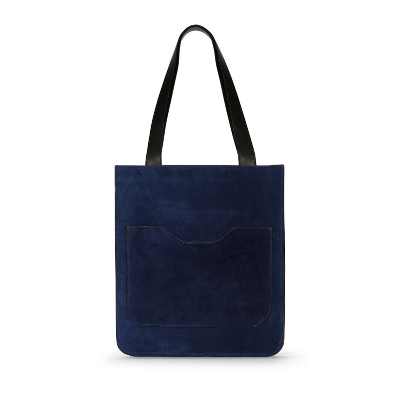 Hell to Texas Small Tote in Navy Suede