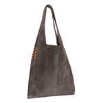 High Rider Tote in Light Grey Suede