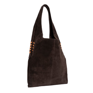 High Rider Tote in Asphalt Grey Suede