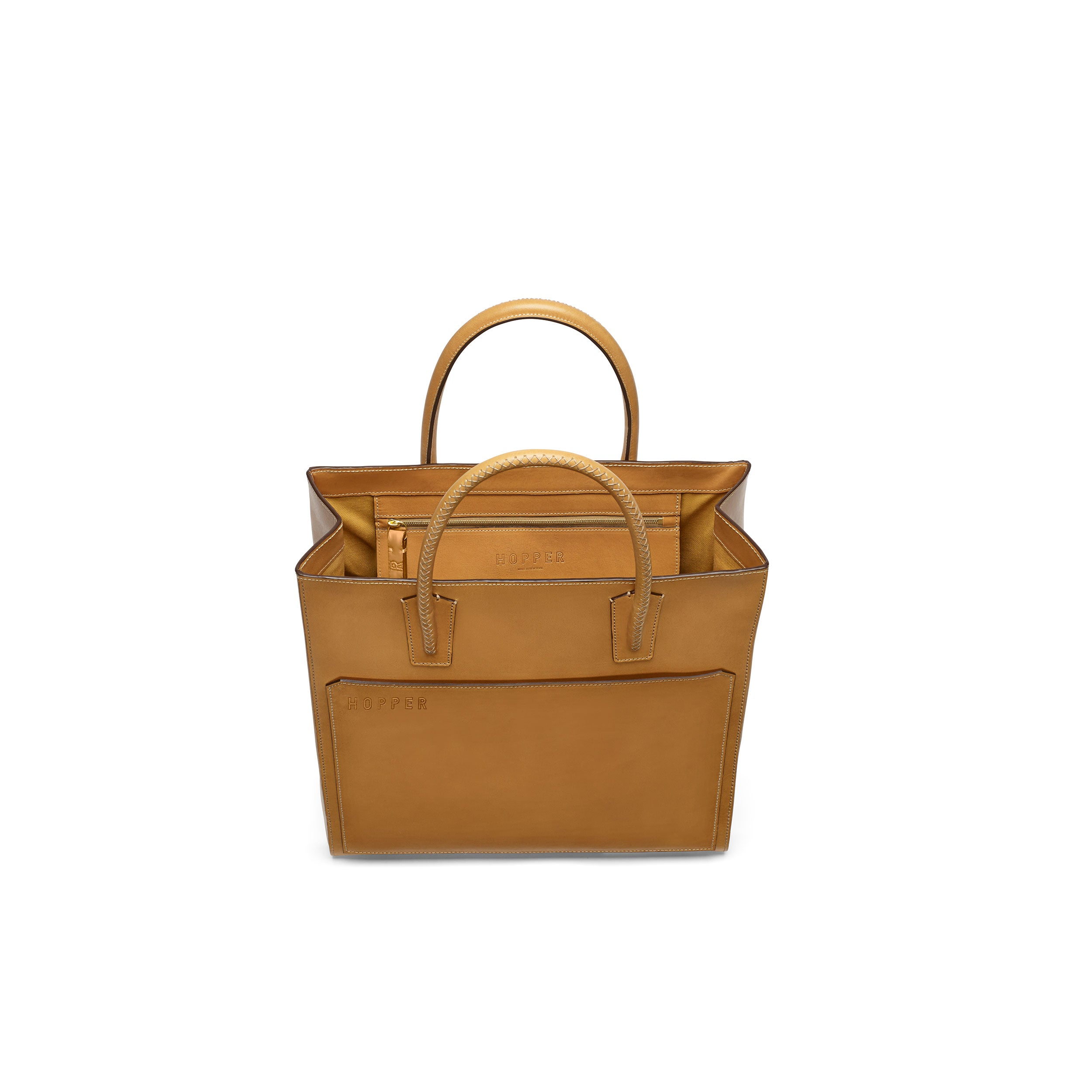N | S Tote, Natural Veg Tan