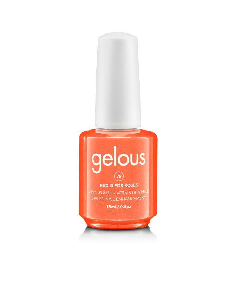 GELOUS VINYL POLISH #79 RED IS FOR ROSES 15ML - NAILS ETC