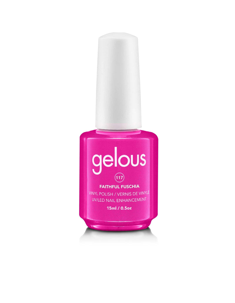 GELOUS VINYL POLISH #117 FAITHFUL FUSCHIA 15ML