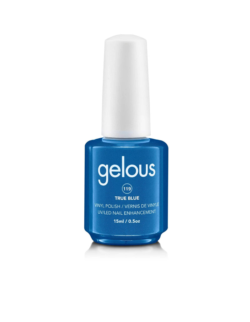 GELOUS VINYL POLISH #119 TRUE BLUE 15ML