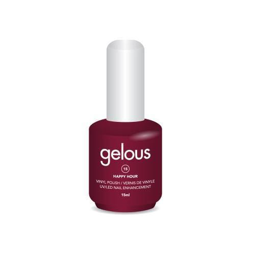 GELOUS VINYL POLISH # 15 HAPPY HOUR 15ML - NAILS ETC