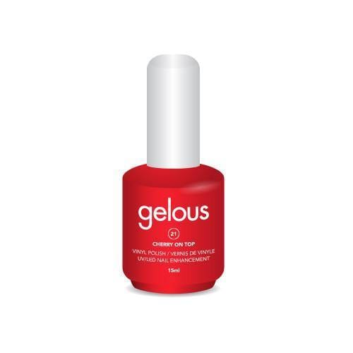 GELOUS VINYL POLISH # 21 CHERRY ON TOP 15ML - NAILS ETC