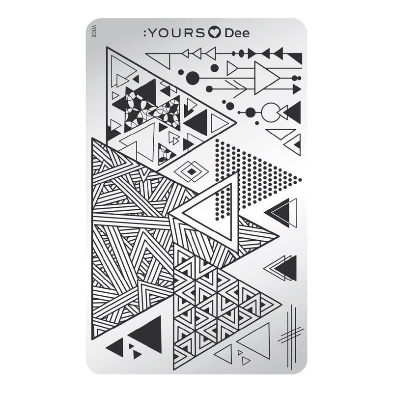 YOURS Loves Dee – Triangle Stamping Plate