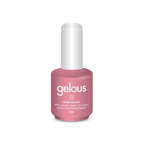 GELOUS VINYL POLISH # 14 ADAM AND EVE 15ML - NAILS ETC