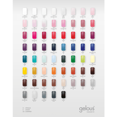 COLOUR FX COLOUR CHART - NAILS ETC