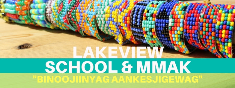 """Binoojiinyag Aankesjigewag"" (The Children Make Patterns)"