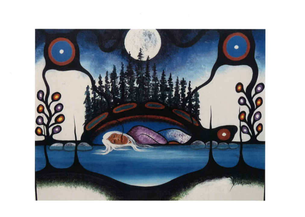 """Honouring Nokomis and Grandmother Moon"" 8""x10"" print"