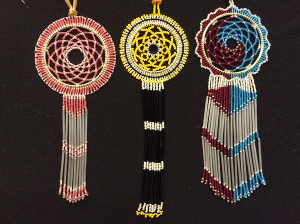 "2"" beaded dream catcher w/ fringe"