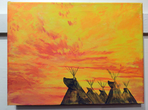 """Teepees Remind Me of Home pt. 1"" by Dustin Roy Madahbee"