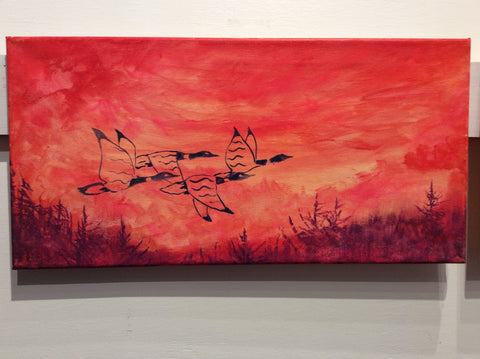 """Woodland Geese"" by Dustin Roy Madahbee"