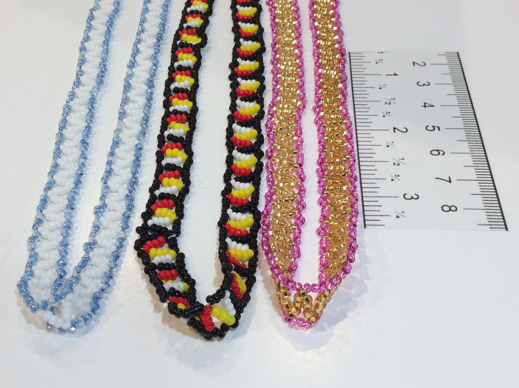 Beaded zigzag necklace