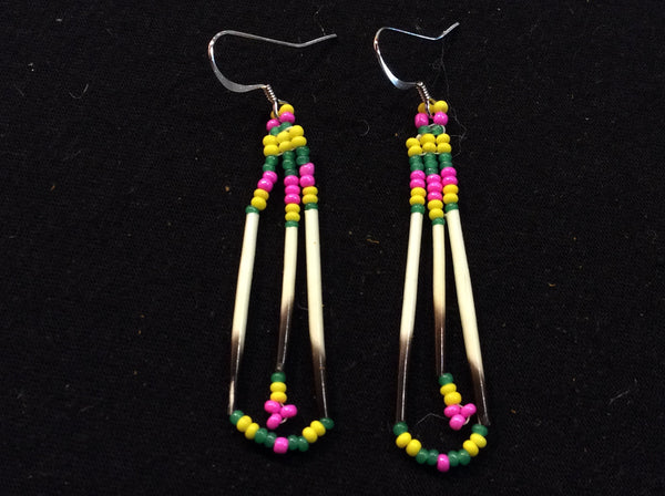 Quilled fringe earrings