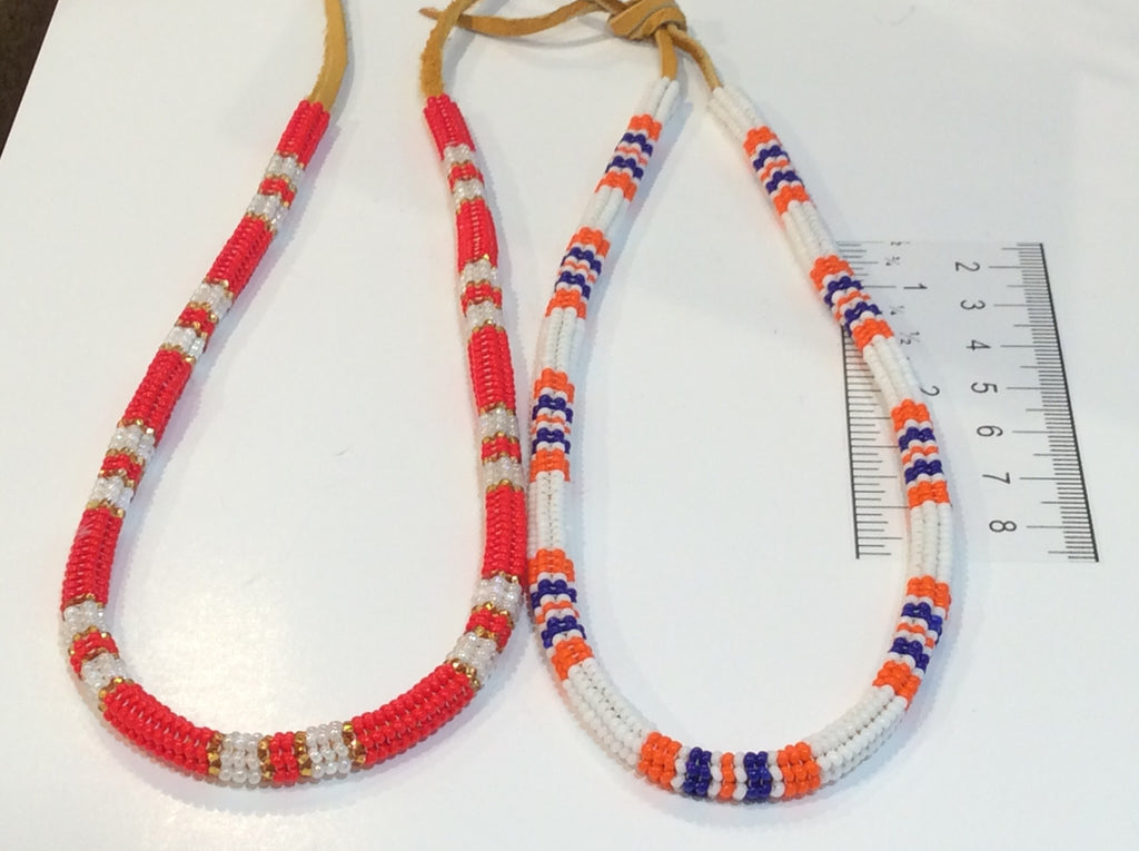 2 Beaded stitch necklace