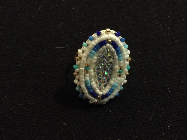 Beaded cab ring