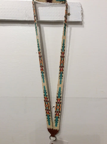 Loom beaded lanyard