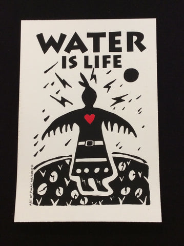"""Water is Life""-Thunderbird Woman, silk screen print"