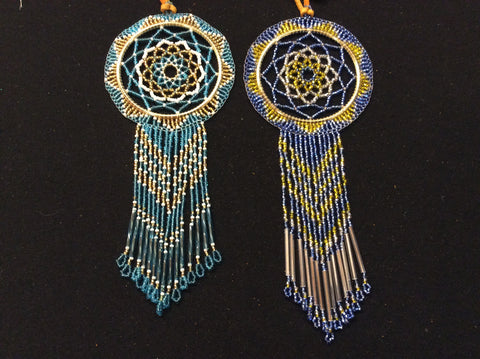 "2.5"" beaded dream catcher w/ fringe"