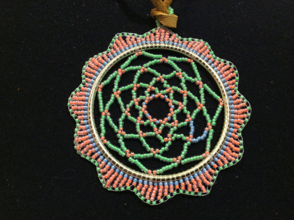 "2.5"" beaded dreamcatcher"