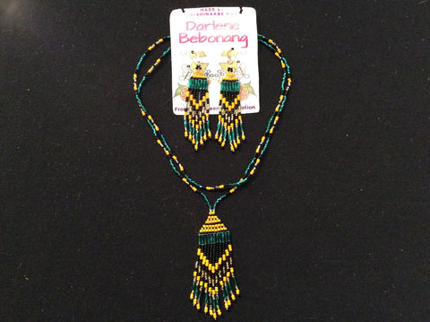 Fringe earrings and necklace set