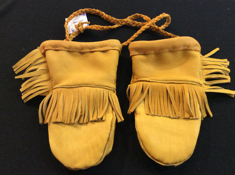 Children's leather mitts