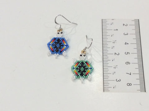 Geometric turtle earrings