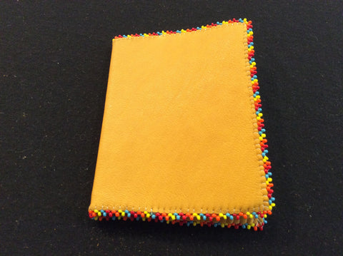 Beaded edged notebook
