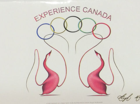 2010 Olympic design gift card