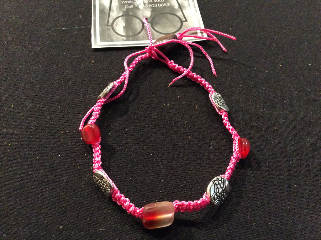 Macrame bracelet with charms