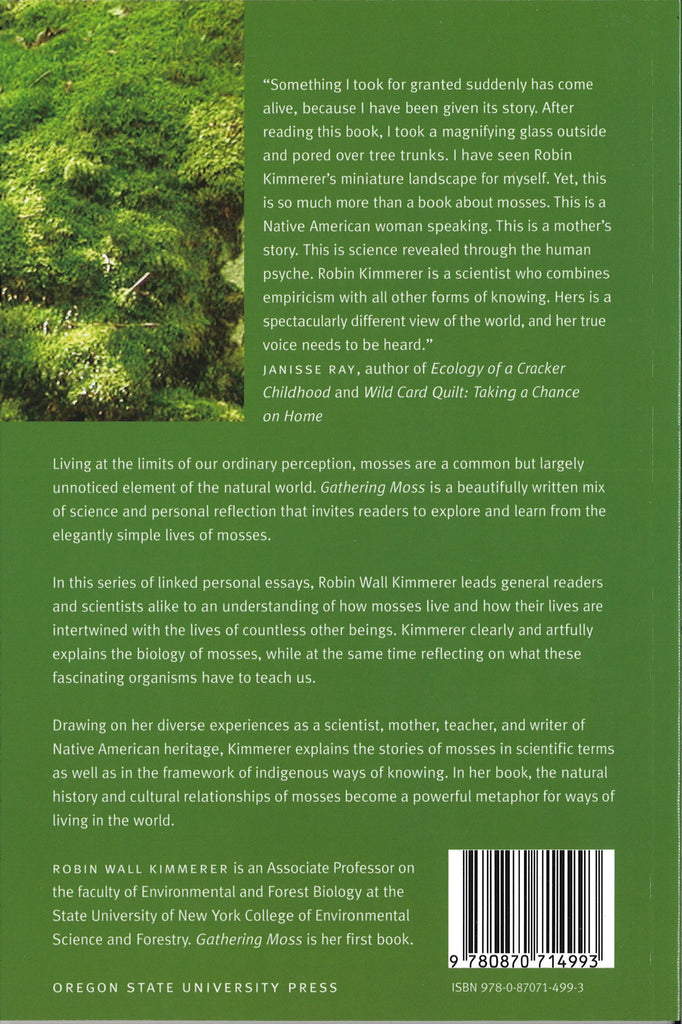 Gathering Moss A Natural and Cultural History of Mosses