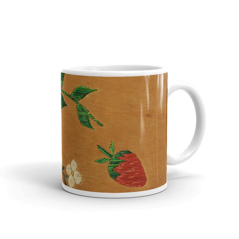 Porcupine Quill Floral Mug