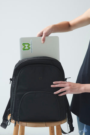 medical infusion backpack with laptop pouch
