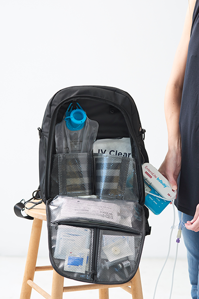 iv infusion pump backpack for patients