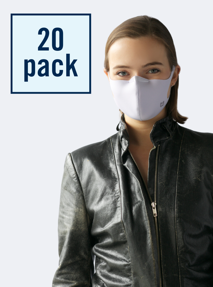 Mighty Well Mask - 20 Pack of Reusable Face Masks