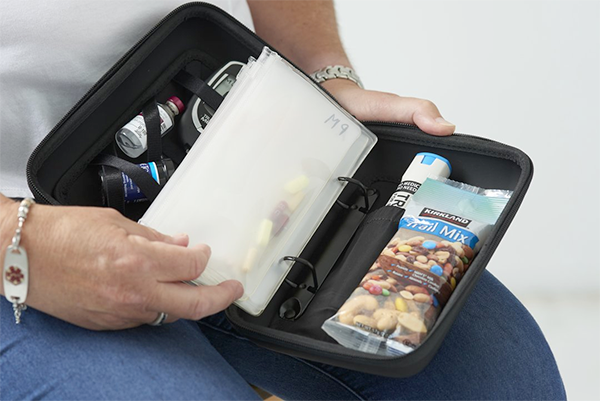 Looking through the Mighty MedPlanner a portable medication organizer