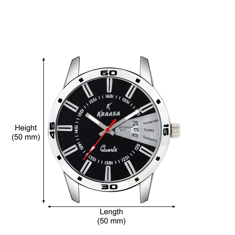Kraasa KW2007 Day and Date Series Hybrid Watch  - For Men ()