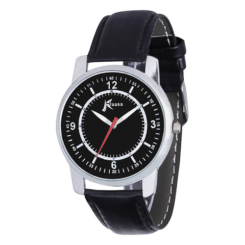 Kraasa Black Round Dial Watch