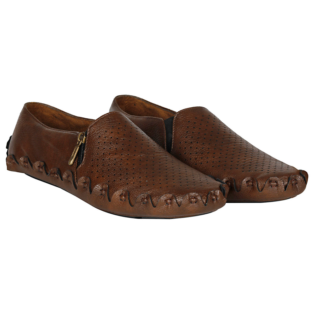 Kraasa 757  Brown Casual Loafers for Men