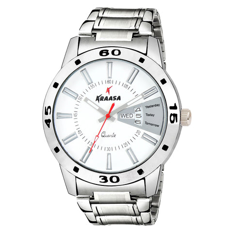 Kraasa KW2004 Day and Date Series Watch  - For Men ()
