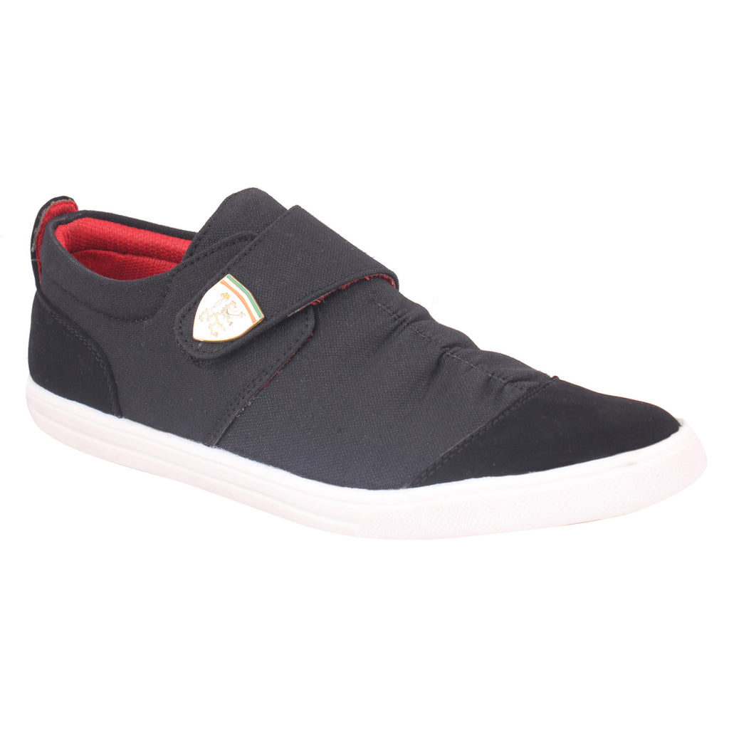Kraasa 6005 Black Canvas Shoes - TheKraasa